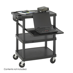 SFC8929BL - SafcoThree Shelf Multimedia Cart