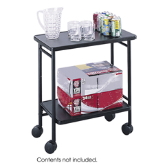 SFC8965BL - SafcoFolding Office/Beverage Cart