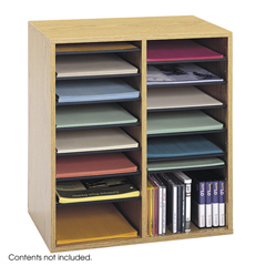 SFC9422MO - SafcoAdjustable Compartment Wood Literature Organizers
