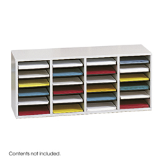SFC9423GR - SafcoAdjustable Compartment Wood Literature Organizers