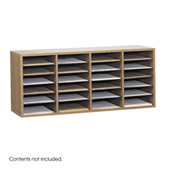 SFC9423MO - SafcoAdjustable Compartment Wood Literature Organizers