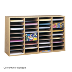 SFC9424MO - SafcoAdjustable Compartment Wood Literature Organizers
