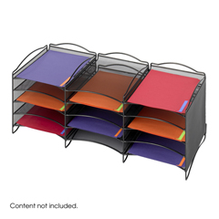 SFC9430BL - SafcoOnyx™ Mesh Literature Sorter