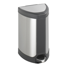 SFC9686SS - SafcoStainless Step-On 7 Gallon Receptacle