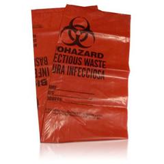 SFT2110122 - Safetec - Red Bio Hazard Bag, 24 x 23, 1.25 mL, 8-10 Gallon Capacity