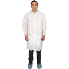 SFZDLWH-XL - Safety Zone - White Polypropylene Lab Coat