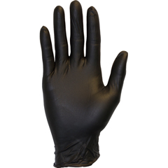 SFZGNPR-LG-BK - Safety ZoneBlack Nitrile Disposable Gloves, Powder Free, Non-Medical
