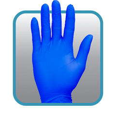 SFZGNPR-XL-1BL - Safety ZoneSuper Stretch Nitrile Gloves