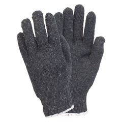 SFZGSMW-MN-2C-GY - Safety ZoneMens Gray Medium Weight String Knit Gloves