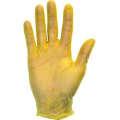 SFZGVP9-LG-1-YE - Safety ZonePowder Free Vinyl Gloves - Large