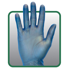 SFZGVP9-LG-1C-BL - Safety ZonePowder Free Blue Vinyl Gloves