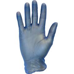SFZGVP9-XL-1C-BL - Safety ZonePowder Free Blue Vinyl Gloves