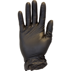 SFZGVP9-XL-1C-K - Safety ZonePowder Free Black Vinyl Gloves