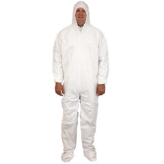 SFZDCWF-XL-BB - Safety ZoneBreathable Barrier Microporus Coveralls with Hood & Boots