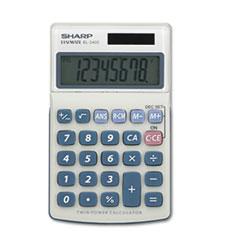 SHREL240SAB - Sharp® EL240SB Handheld Business Calculator