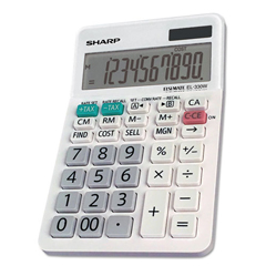 SHREL330WB - Sharp® EL-330WB Desktop Calculator