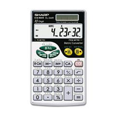 SHREL344RB - Sharp® EL344RB Metric Conversion Wallet Calculator