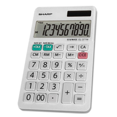 SHREL377WB - Sharp® EL-377WB Large Pocket Calculator