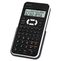 SHREL531XBWH - Sharp® Scientific Calculator, 12-Digit LCD, Black/White