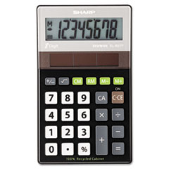 SHRELR277BBK - Sharp® EL-R277BBK Recycled Series Handheld Calculator