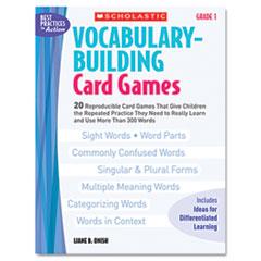 SHS0439554640 - Scholastic Vocabulary Building Card Games