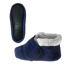 SIL101600201 - Silverts - Unisex Deep and Wide Diabetic Bootie Slipper