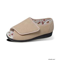SIL101800104 - SilvertsWomens Extra Wide Sandals Shoe / Open Toe Slipper