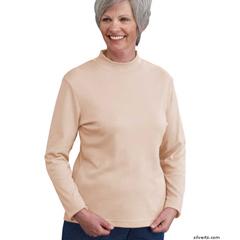 SIL130600104 - SilvertsWomens Long Sleeve Mock Turtleneck Shirt