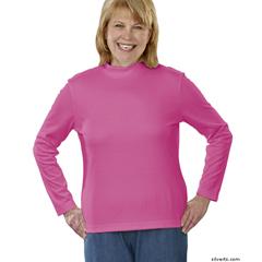 SIL130601003 - SilvertsWomens Long Sleeve Mock Turtleneck Shirt