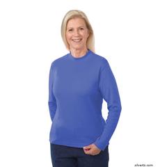 SIL130603002 - SilvertsWomens Long Sleeve Mock Turtleneck Shirt