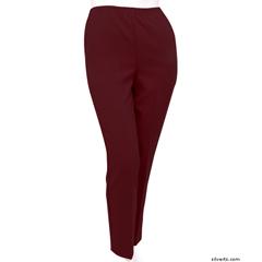 SIL130910205 - Silverts - Womens Elastic Waist Polyester Pants 2 Pockets