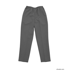 SIL130903504 - Silverts - Womens Elastic Waist Polyester Pants 2 Pockets