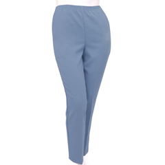 SIL130903603 - Silverts - Womens Elastic Waist Polyester Pants 2 Pockets