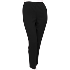 SIL131010402 - Silverts - Petite Polyester Elastic Waist Pull On Pants For Mature Women