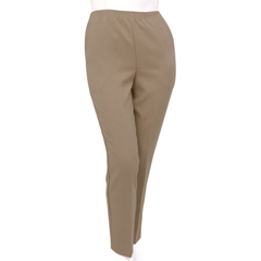 SIL131010502 - Silverts - Petite Polyester Elastic Waist Pull On Pants For Mature Women