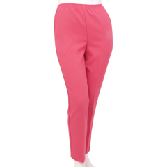 SIL131011003 - Silverts - Petite Polyester Elastic Waist Pull On Pants For Mature Women