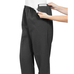 SIL231200101 - Silverts - Soft Knit Arthritis Pants With Easy Access Straps