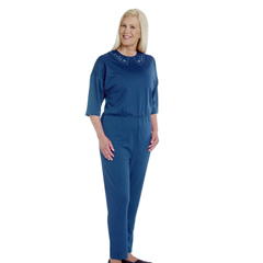 SIL233300606 - Silverts - Womens Adaptive Alzheimers Clothing Anti Strip Suit Jumpsuit