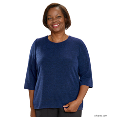 SIL234600204 - Silverts - Adaptive Sweater Top For Women