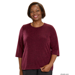 SIL234610302 - Silverts - Adaptive Sweater Top For Women