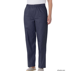 SIL234700303 - Silverts - Womens Adaptive Open Back Cotton Wheelchair Pants