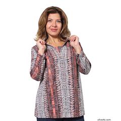 SIL235030102 - Silverts - Adaptive Fashion Print Open Back Blouses
