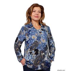 SIL235030205 - Silverts - Adaptive Fashion Print Open Back Blouses