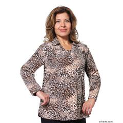 SIL235030403 - Silverts - Adaptive Fashion Print Open Back Blouses