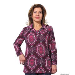 SIL235030604 - Silverts - Adaptive Fashion Print Open Back Blouses
