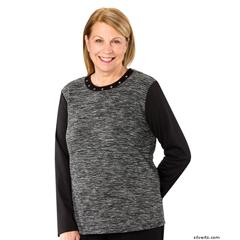 SIL237310302 - SilvertsWomens Stylish Adaptive Sweater Top