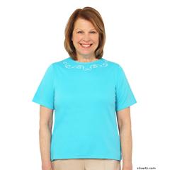 SIL247101002 - Silverts - Adaptive Cotton T-Shirt For Women