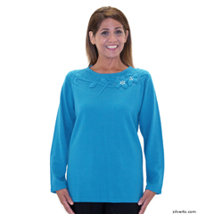 SIL248900104 - Silverts - Adaptive Sweater Top For Ladies