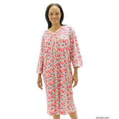 SIL260000103 - SilvertsWomens Soft Cotton Knit Hospital Gowns