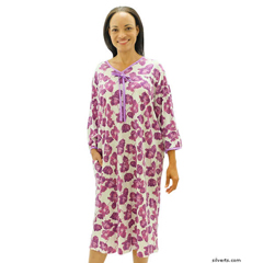 SIL260000302 - SilvertsWomens Soft Cotton Knit Hospital Gowns